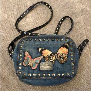 Valentino Rockstud crossbody Denim Butterfly Bag